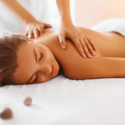 Body care. Spa body massage treatment.